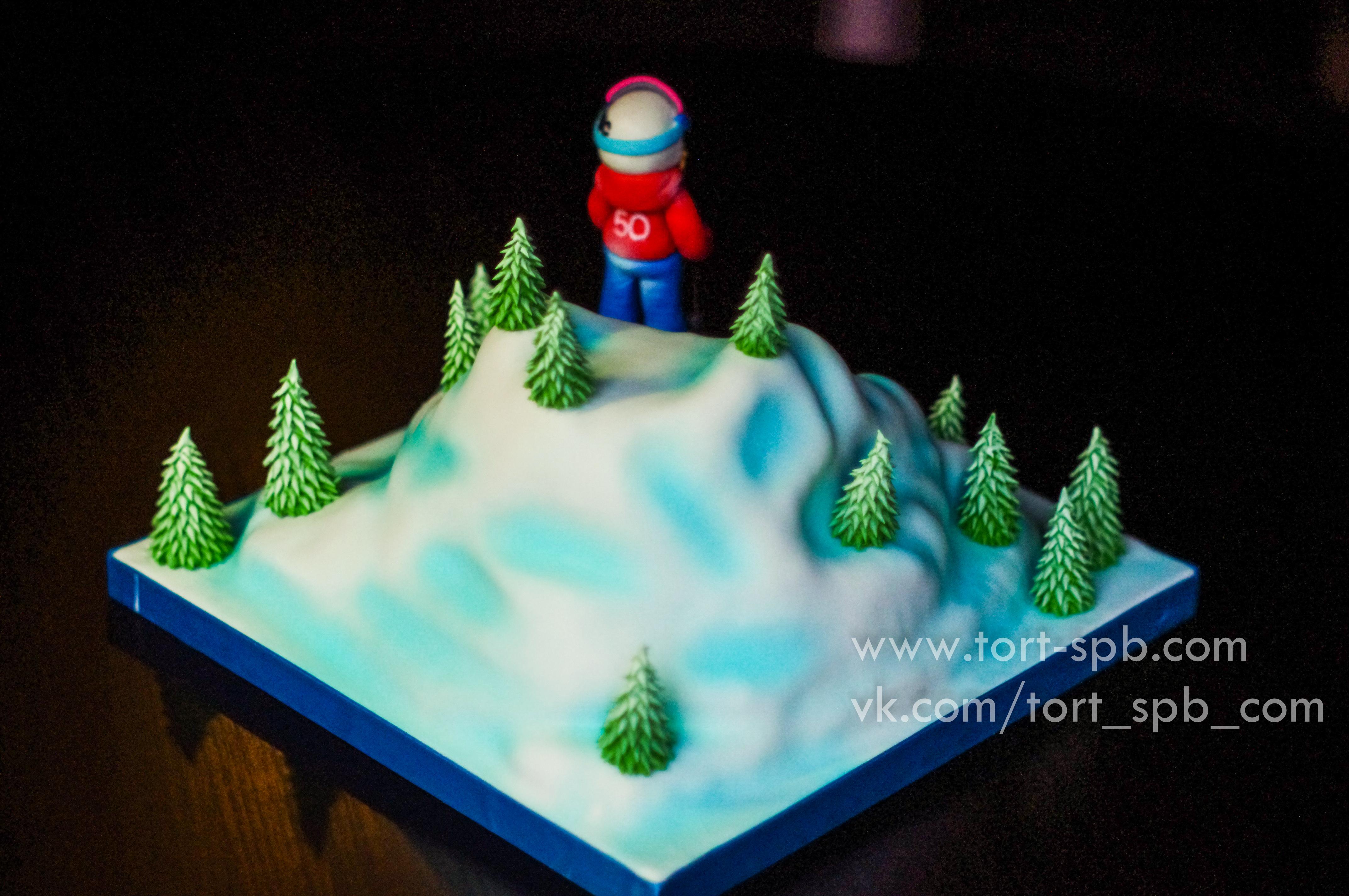 """Торт """"Горные лыжи"""""""