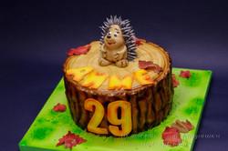 Торт с ёжиком| Торт ёжик