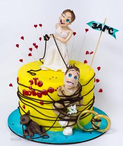 Торт жених  и невеста