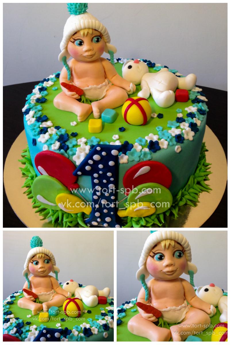 Торт на годик Малышу