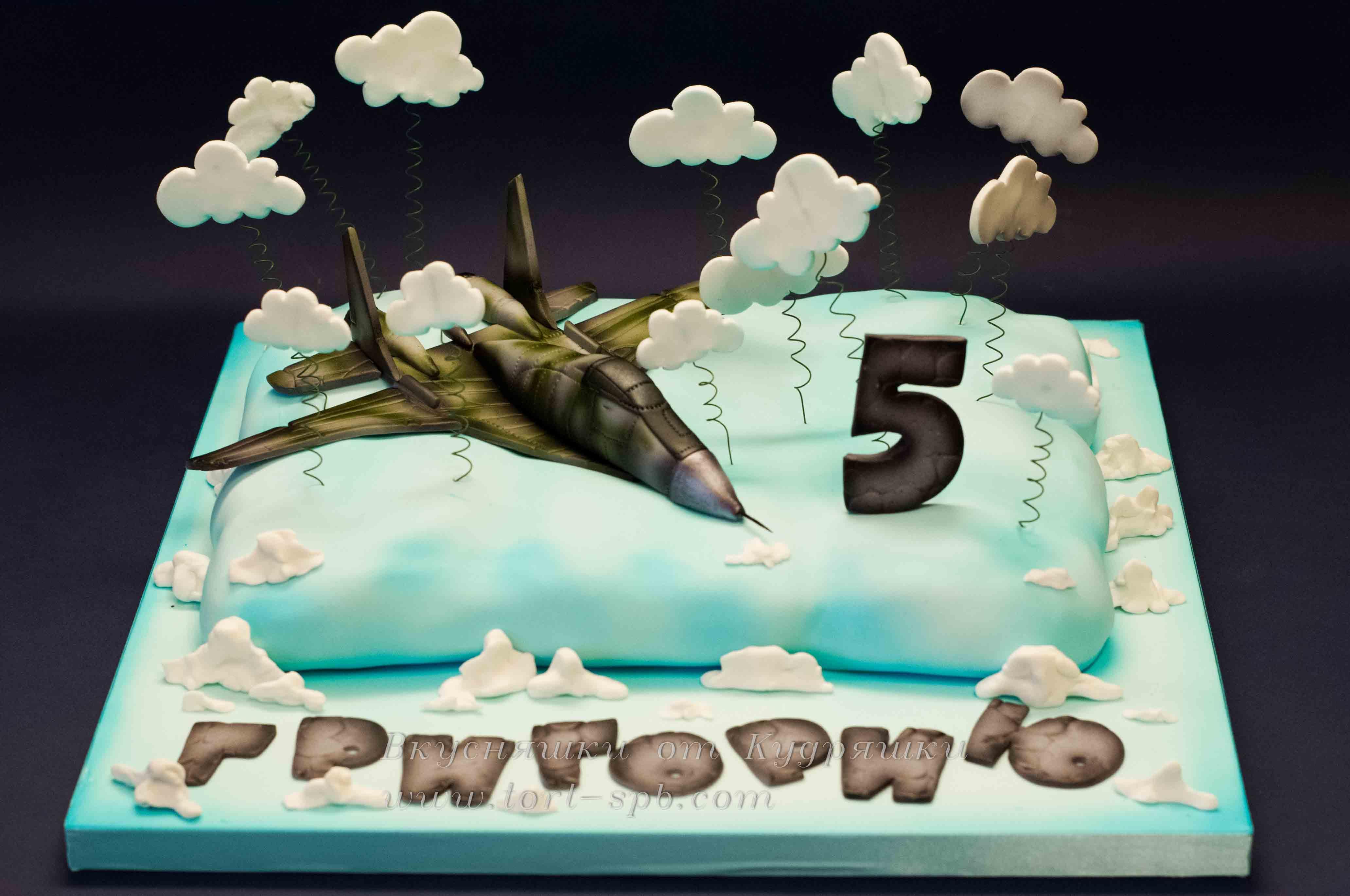 Торт с самолетом