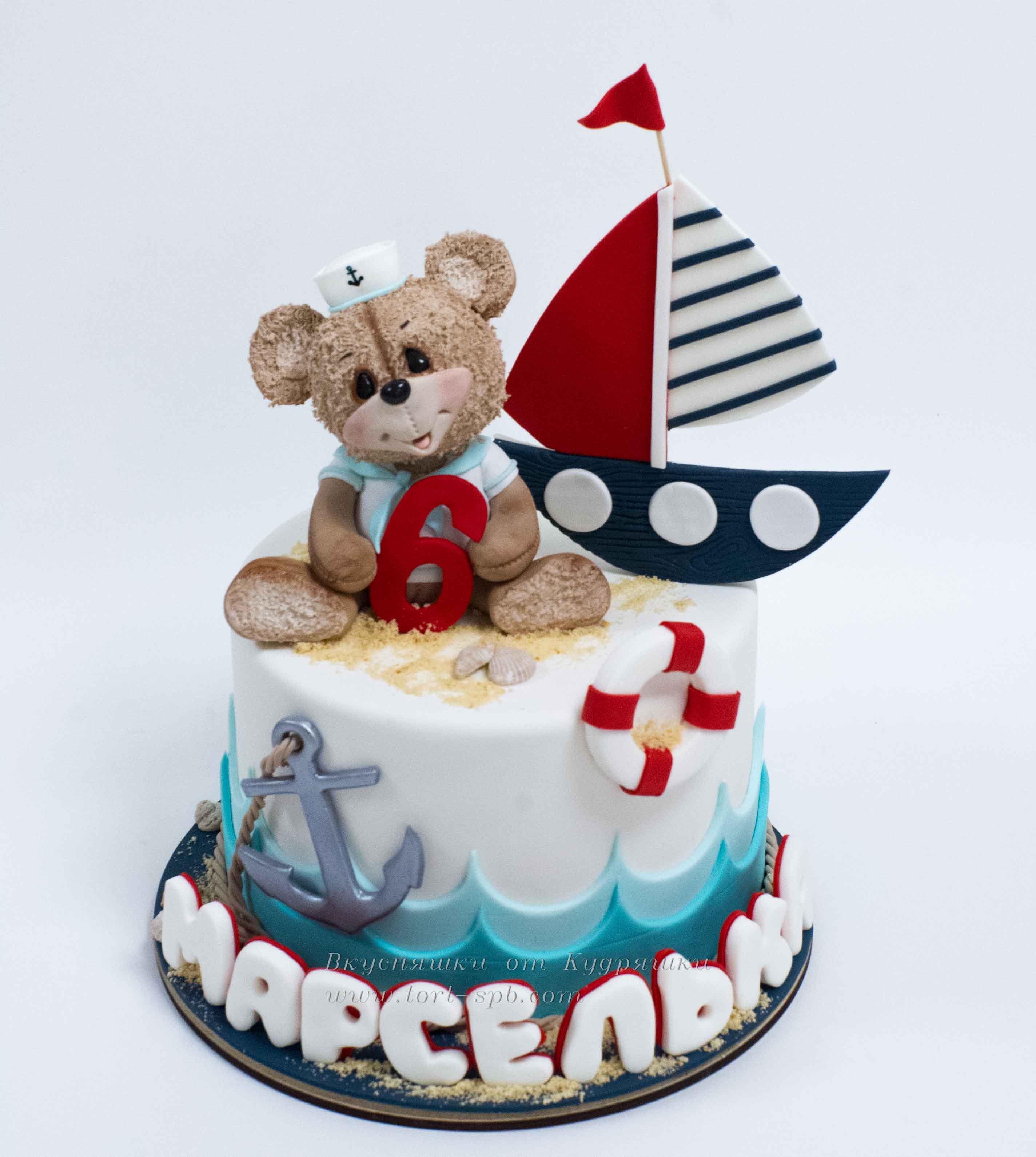 Торт в морской тематике