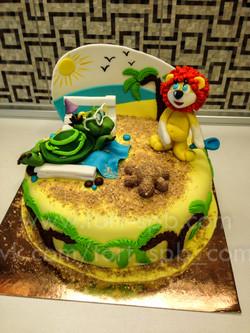 """Торт """"Львенок и черепаха"""""""