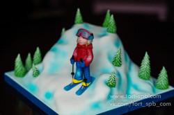 """Торт """"Лыжница"""""""