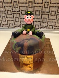 "Торт ""Солдат на привале | 23 февраля"