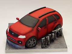 Объемный торт машина