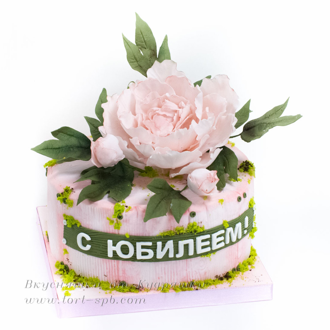Торт с пионом