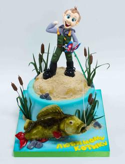 Торт рыбаку