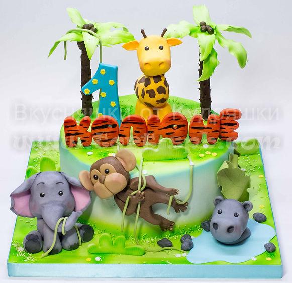 Торт со зверюшками