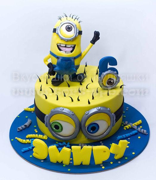 Торт с миньоном