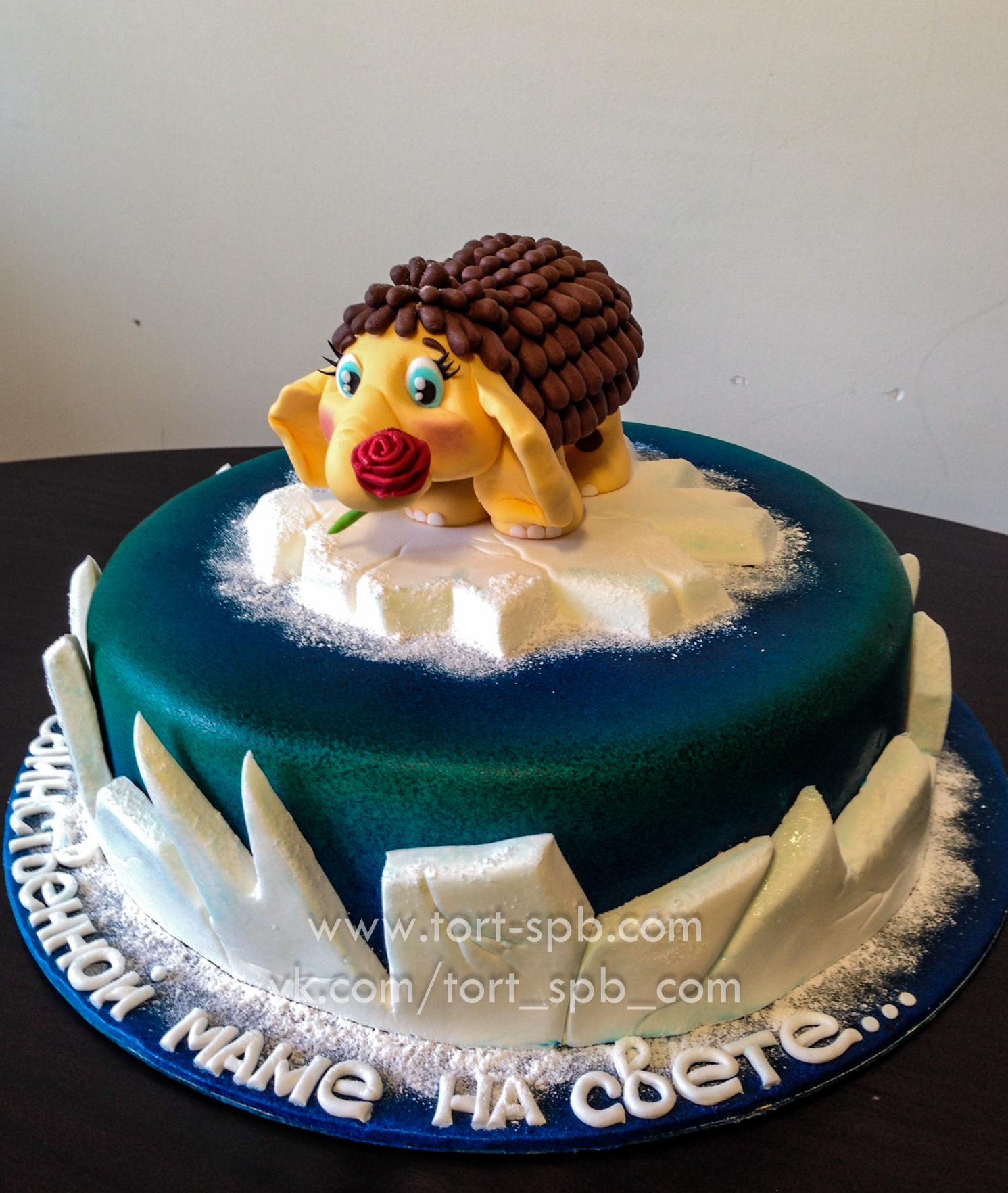 Торт Мамонтенок на льдине