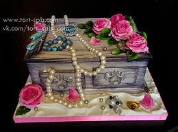 объемный торт шкатулка для мамы, бабушки, жены