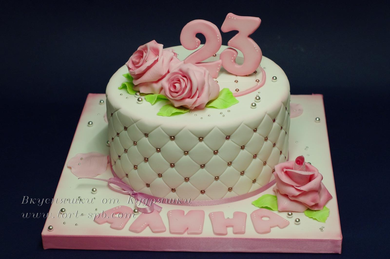 Торт с розами для девушки