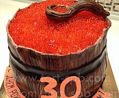 Объемный торт бочонок