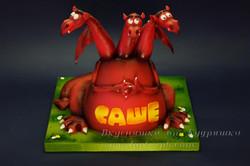 Объемный 3D торт Горыныч