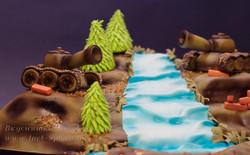 Торт с танками