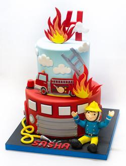 Торт пожарнику