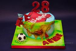 Торт для путешественника, футболиста