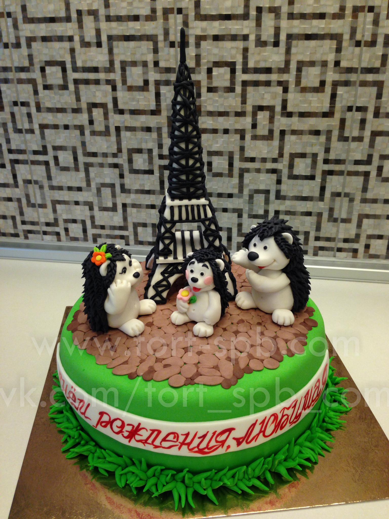"Торт ""Париж, Эйфелева башня"""