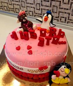 """Торт """"Любовь-это..."""" love is"""