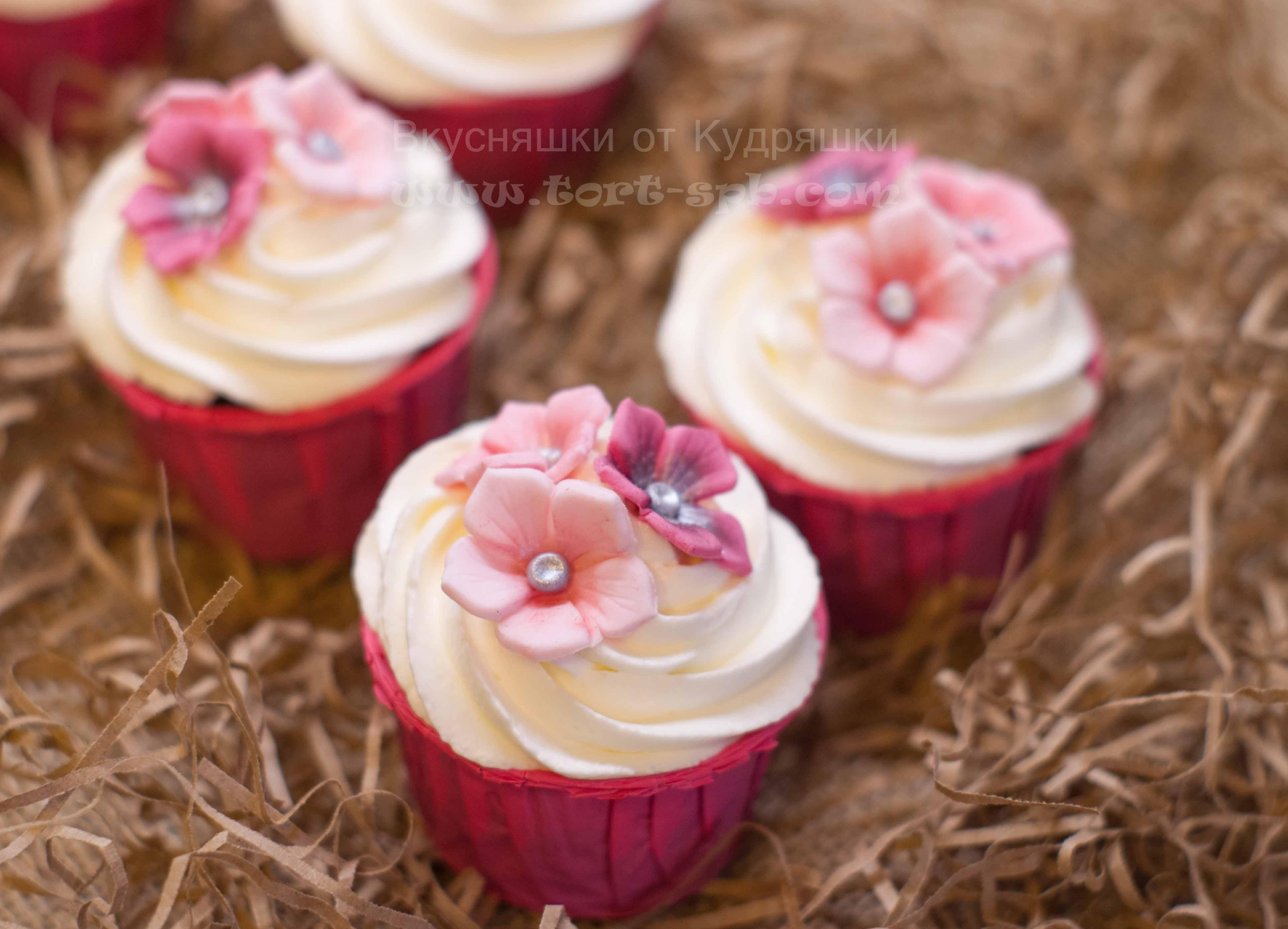 Капкейки с цветочками