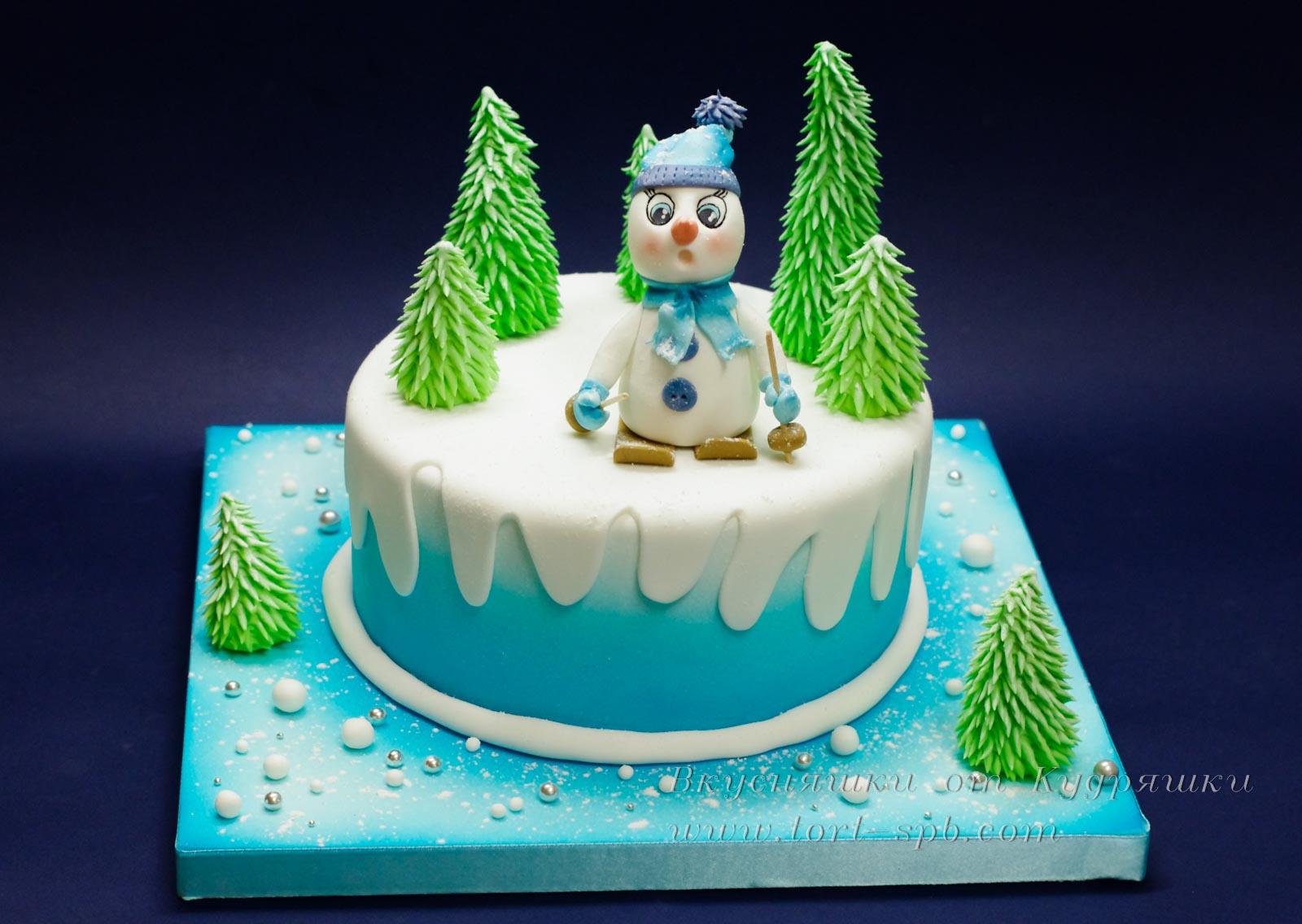 Торт на новый год