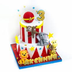 Торт цирк со зверюшками