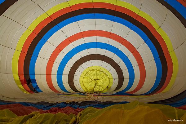 voar de balão de ar quente