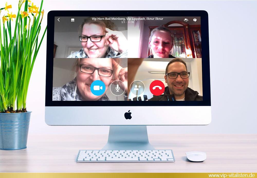 VIP GmbH gute Pflegejobs durch Skype Vernetzung