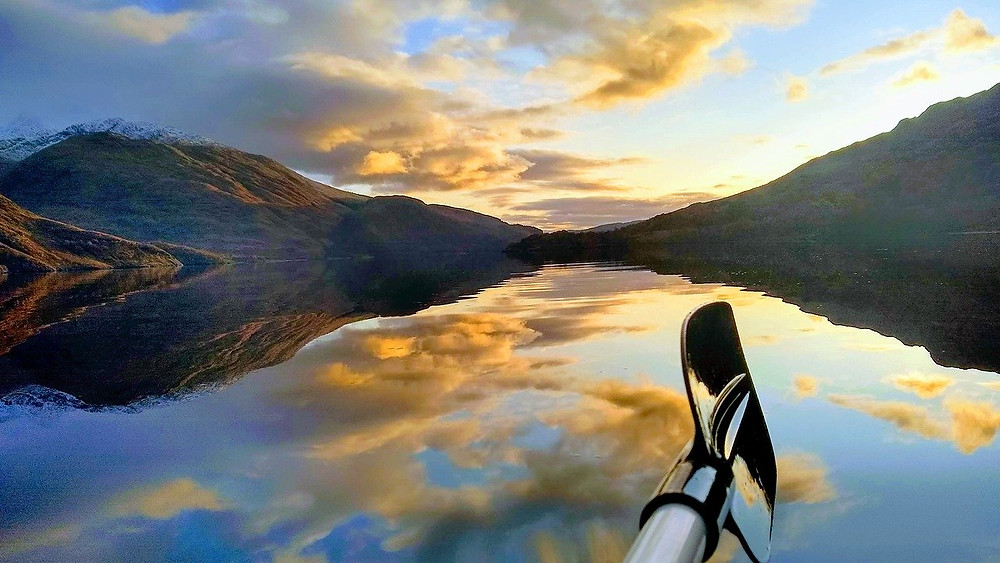 Canoe Paddle, sunset. Nature's Poetry of Life