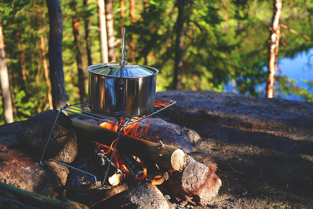 Campfire and pot. Nature's Poetry of Life