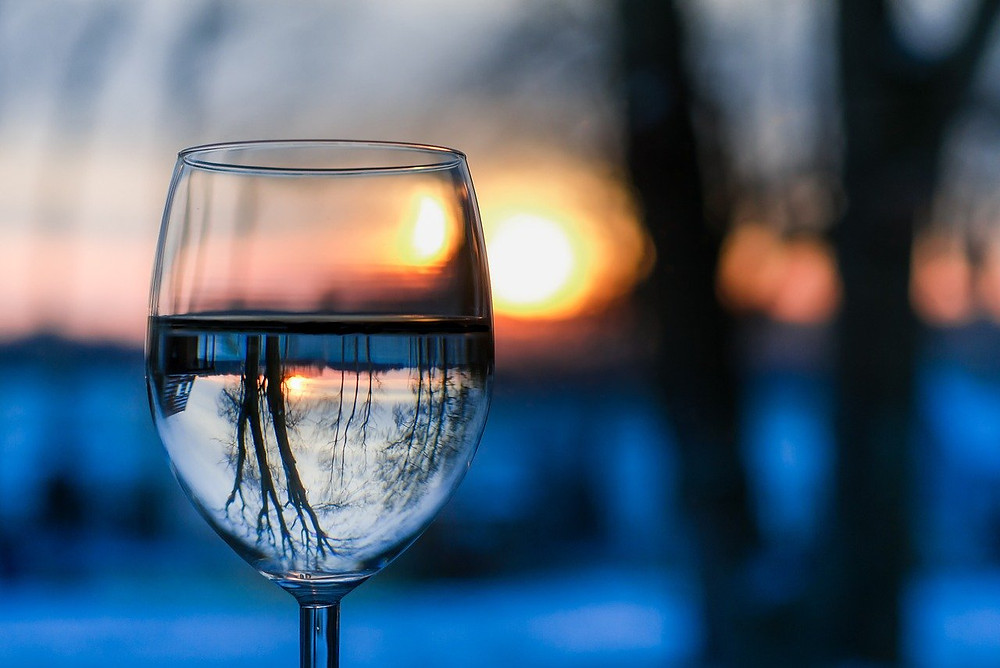 The Poetry of Nature; wine glass and winter
