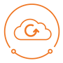 technology solve cloud backup icon