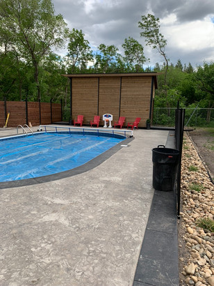 pool installation and surround