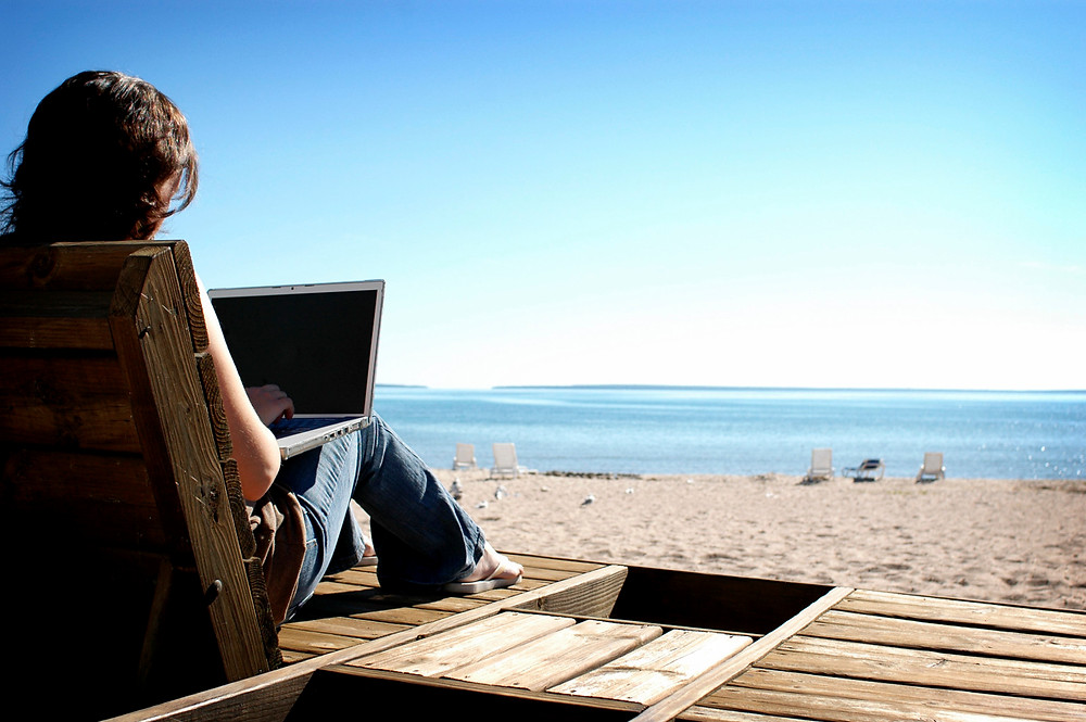 technology solve working from the beach using office 365