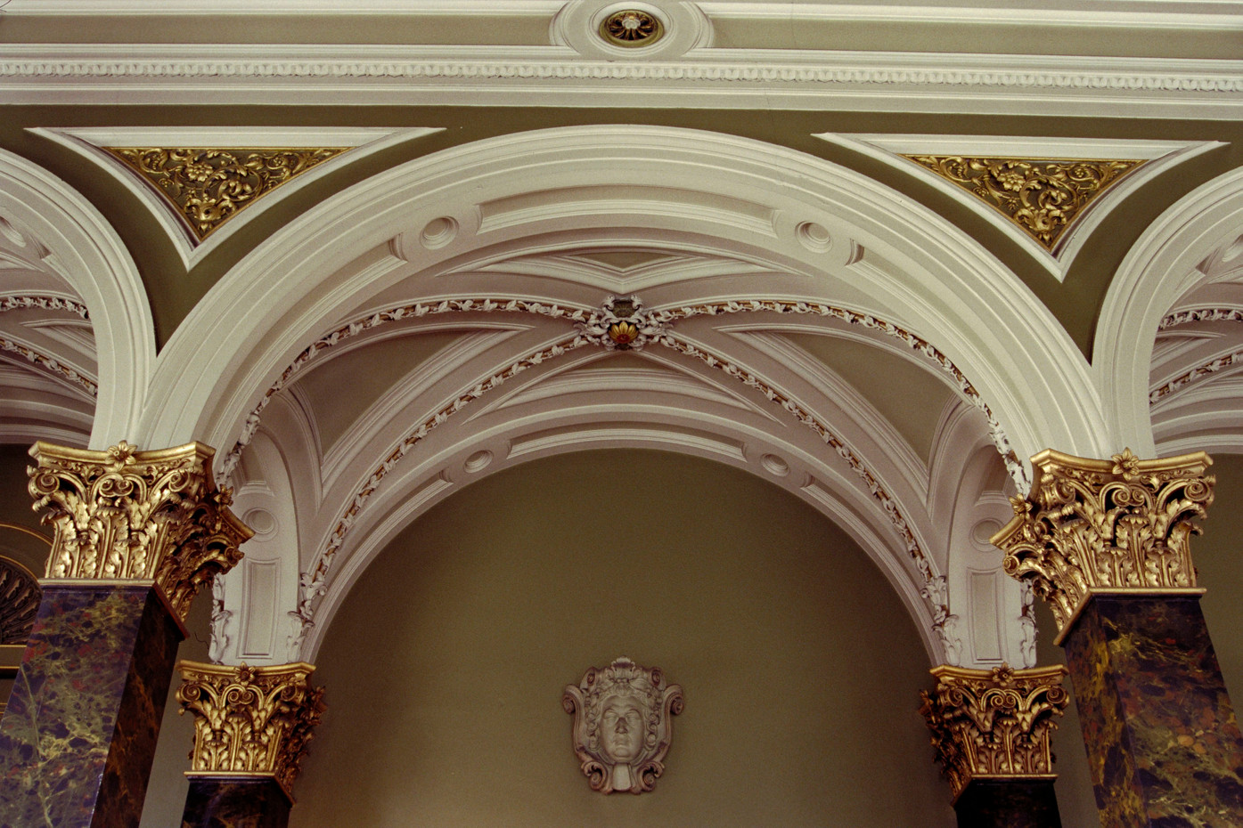Plasterwork in the main library