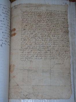 A letter from 1584 from King James VI asking the Laird of Craighall to give aid to the town of Wemyss, which was suffering an outbreak of plague