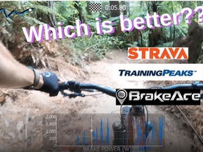 How to analyze a MTB ride with Strava, TrainingPeaks and BrakeAce
