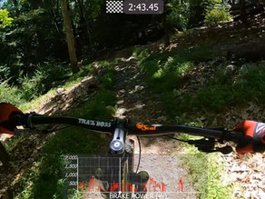 Pacing a downhill run versus pedaling all-out