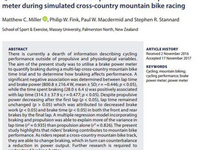 World's first MTB braking research is published in scientific journal (plus 50 free copies)