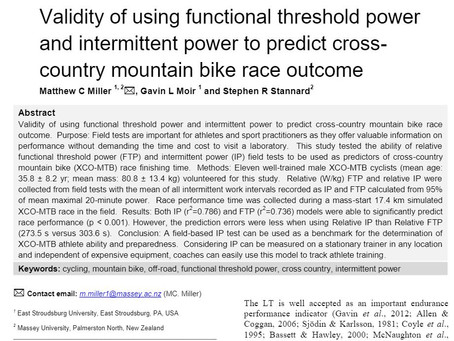 Does FTP Matter for MTB?