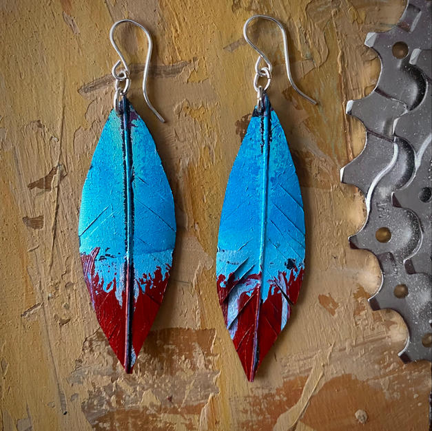 SOLD UpCycle Jewelry earrings
