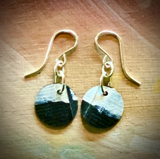SOLD UpCycled Jewelry earrings  To the horizon