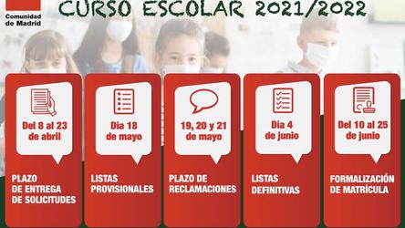 Abierto el plazo de matriculación en la Comunidad de Madrid para el curso 21/22