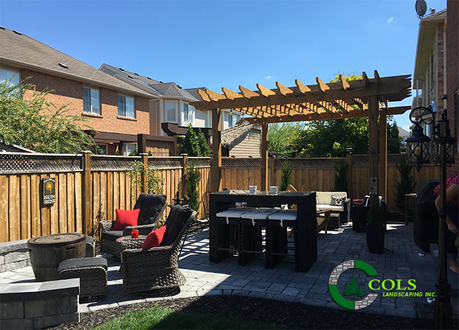 backyard patio wood arbor pergola