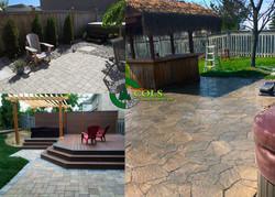 COLS backyard hot tub deck builder