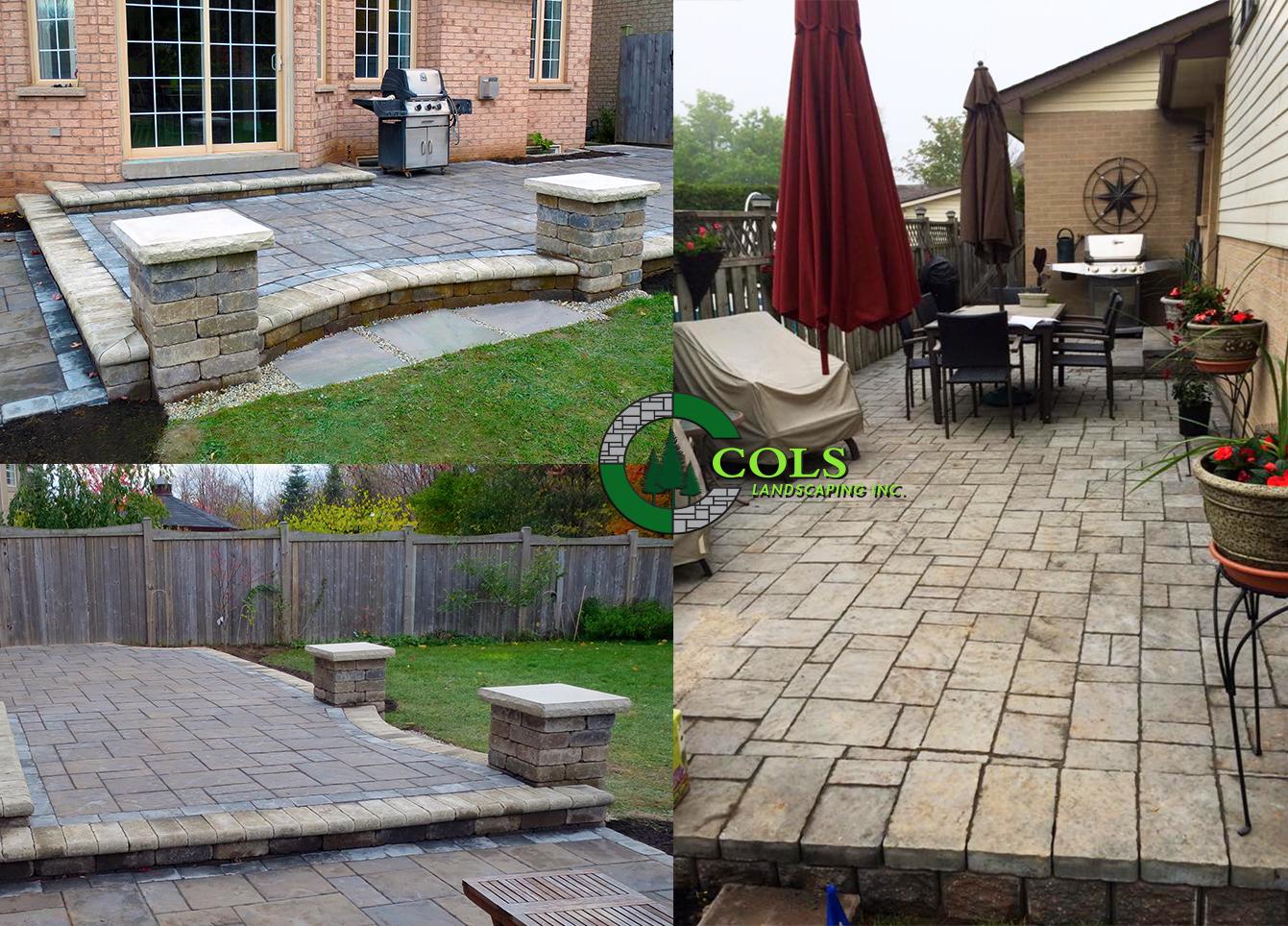 COLS backyard patio stone designs