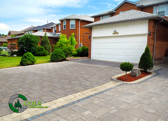 Paving Stone Driveway & Garden Bed