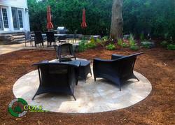 backyard fire pit stone patio design