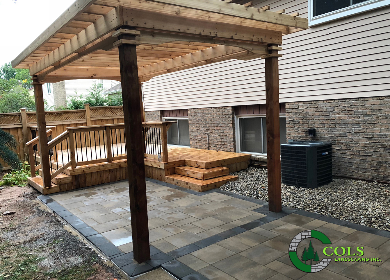 wood porch deck pergola arbour